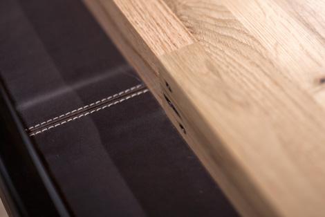 shuffleboard leather gutter