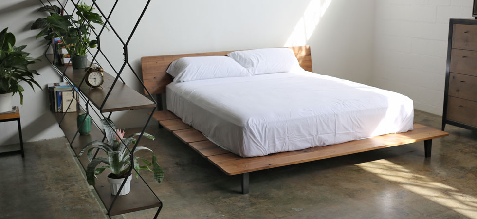 Walnut Slat Bed