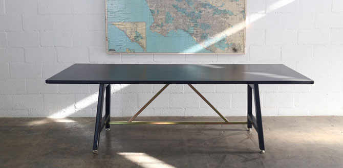 Black A-Frame Table