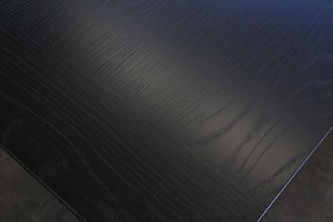 black-aframe-wood