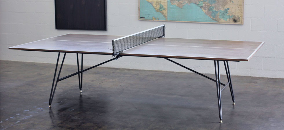 Clip leg ping pong table district mills for Table ping pong interieur