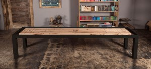 Steel Parsons Shuffleboard Table
