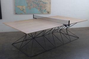 Hourglass Ping Pong Table