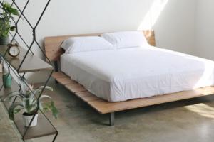 Walnut Slat Bed