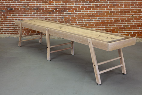 Lean-to Shuffleboard Table